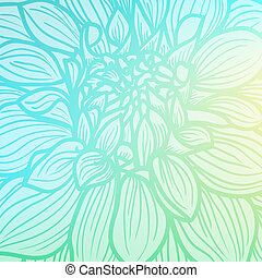 Hand drawn Dahlia flower - Background with hand drawn Dahlia...