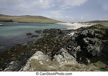 North Uist, Scolpaig Bay, Hebrides, Scotland