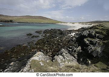 North Uist, Scolpaig Bay, Hebrides, Scotland