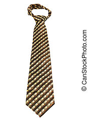 fashionable ties on a white background