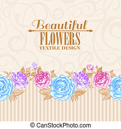 Rose frame invitation card Vector illustration