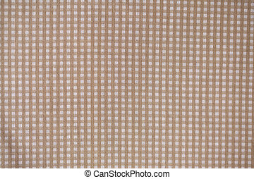 Beige plaid fabric - Fabric texture with pattern close up