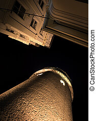 Galata Tower - Low angle view of the Galata Tower in...
