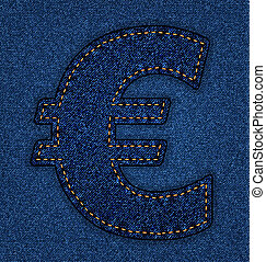 Jeans alphabet euro sign - Denim Euro sign Jeans alphabet...