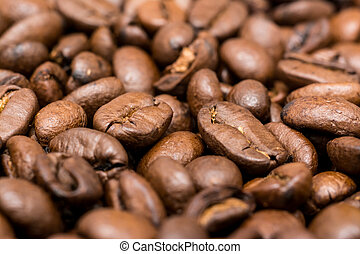 Fresh Roasted Coffee Beans Close Up Details