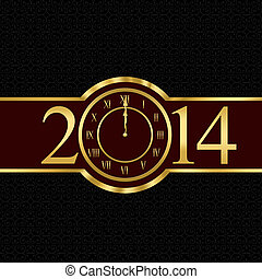 New year 2014 concept with clock