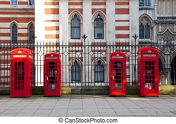 Red London Phone Booths