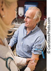 Middle Aged Man Having Blood Test Done