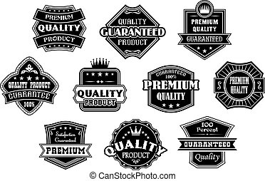 Labels set in vintage western style for retail, sale or...