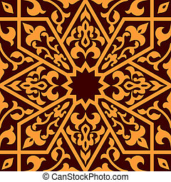 Arabian eastern seamless ornament for background design