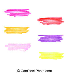 Handmade marker stripes set pink