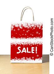 bolsa, nevoso, venta, invierno