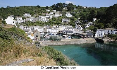Polperro Cornwall blue sky and sea - Polperro fishing...