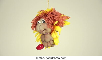 Little lion doll hanging - Little lion handmade doll turns...