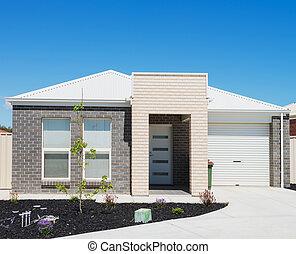 Modern Suburban House - typical facade of a modern suburban...