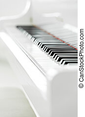 Close up view of piano keyboard - Close up of piano keyboard...