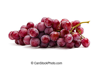 Close up of bunch of grape, isolated on white. Concept of...