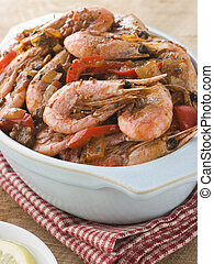 Dish of Cajun Shrimp
