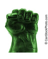 Fist - A clenched fist isolated against a white background