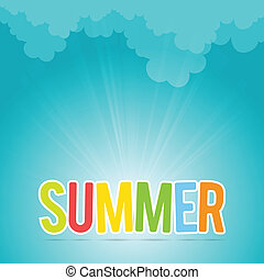 Colorful Summer - Vector illustration of colorful letters of...