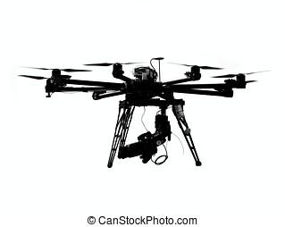Unmanned, aéreo, vehículo, cámara