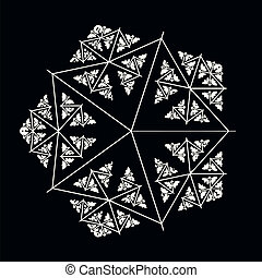 Ornate decorative snowflake