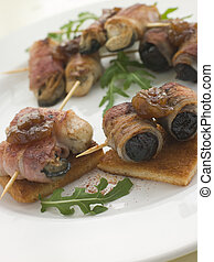 Angels and Devils on Horseback on Toasts