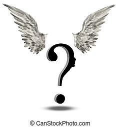 Question Face with wings Choice Freedom
