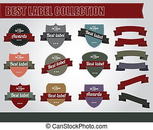 Collection of vintage labels