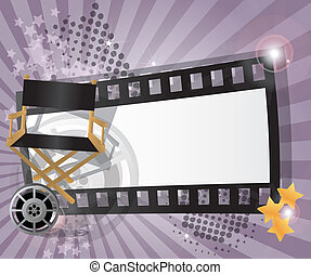 Movie background, vector - Movie background with place for...