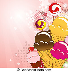Collection of sweets, vector