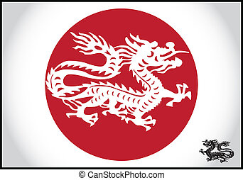 Asian traditional dragon, vector
