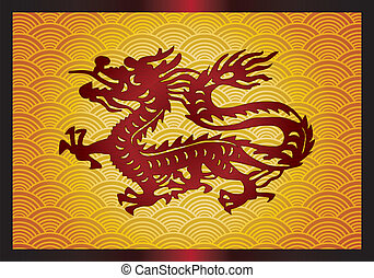 Asian traditional dragon