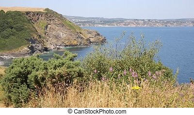 St Austell Bay Cornwall to Par - View of St Austell Bay from...