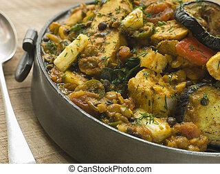 prato, vegetal,  pewter,  dhansak