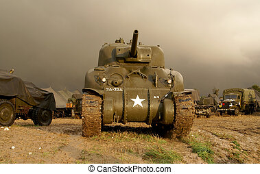 world war two sherman tank - world war two tank sherman in a...