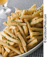 Garlic French Fries with Chives
