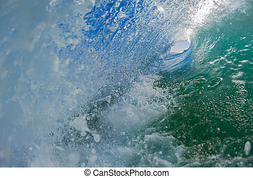 Hollow Wave Turbulence - Swimming view inside hollow ocean...