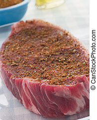 Sirloin Steak with Cajun Spice Rub