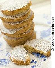 Stack of Polvorones Biscuits