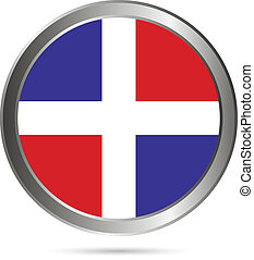 Dominican Republic flag button.