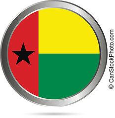 Guinea-Bissau flag button. - Guinea-Bissau flag button on a...