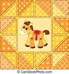 Application horse seamless pattern - Application horse...