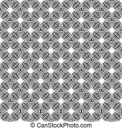 Design seamless uncolored diagonal diamond pattern. Vector...