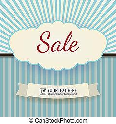 Vintage Poster Sale. Vector illustration