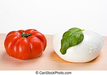 caprese - tomatoes, mozzarella and basil: insalada caprese