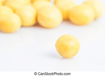 Soya Bean - Soya bean on a white background