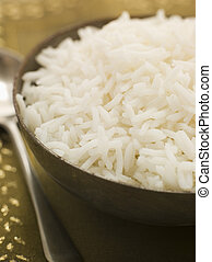 Bowl of Plain Boiled Basmati Rice