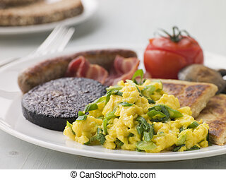 Full Irish Breakfast with Irish Soda Bread