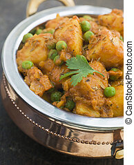 Curried Potatoes Peas and Cumin